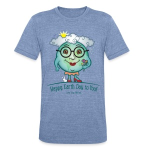 Mother Earth - Happy Earth Day - Unisex Tri-Blend T-Shirt by American Apparel