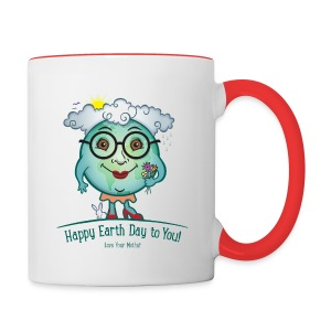 Mother Earth - Happy Earth Day - Contrast Coffee Mug