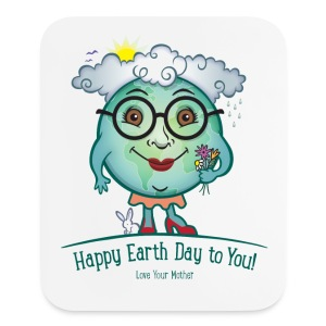 Mother Earth - Happy Earth Day - Mouse pad Vertical