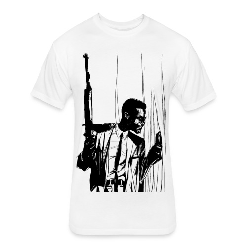 Defend and Protect!  Malcolm X Men's Graphic Tee - Fitted Cotton/Poly T-Shirt by Next Level