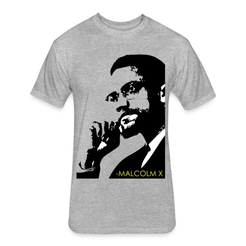 Natural Born Leader - Malcolm X Men's Graphic Tee - Fitted Cotton/Poly T-Shirt by Next Level