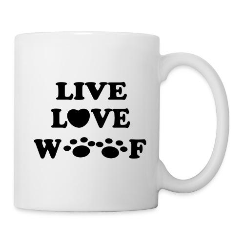 Live Love Woof Mug - Coffee/Tea Mug