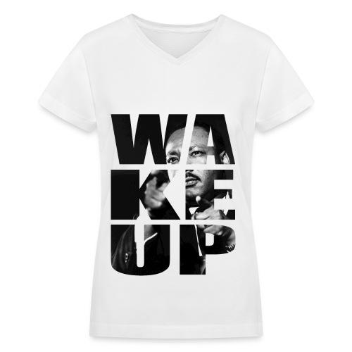Wake Up! (Woman) V-Neck - Women's V-Neck T-Shirt