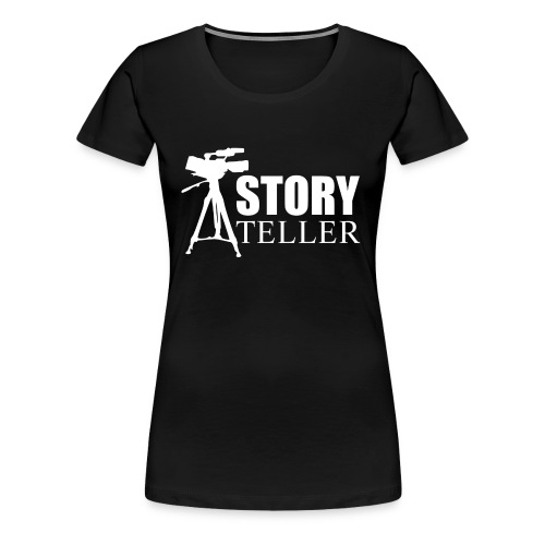 Storyteller Camera (Premium Woman's T-Shirt) - Women's Premium T-Shirt