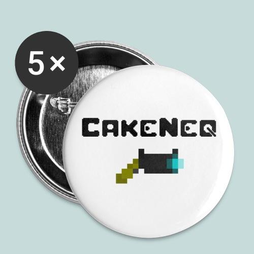 CakeNeq Logo Button w/Plasma Gun - Small Buttons