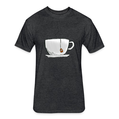 Grey Tea Shirt - Fitted Cotton/Poly T-Shirt by Next Level