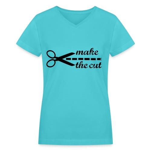 Make the Cut (V-neck) - Women's V-Neck T-Shirt