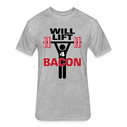 Will Lift for Bacon Fitted Cotton/Poly T-Shirt - Men's - Fitted Cotton/Poly T-Shirt by Next Level