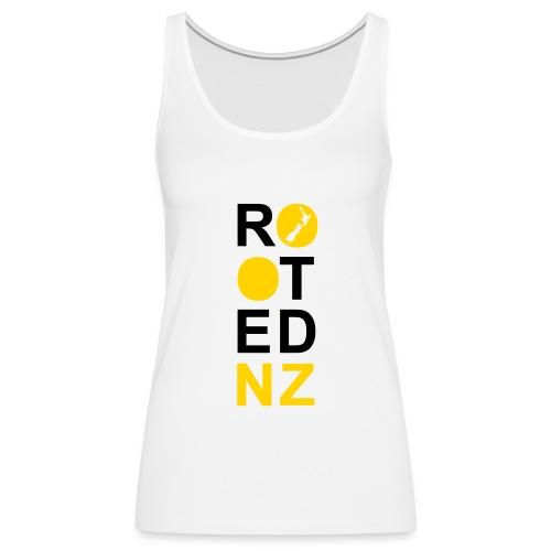 Rooted NZ MUSTARD - Women's Premium Tank Top