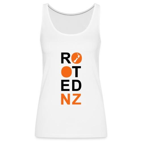 Rooted NZ ORANGE - Women's Premium Tank Top
