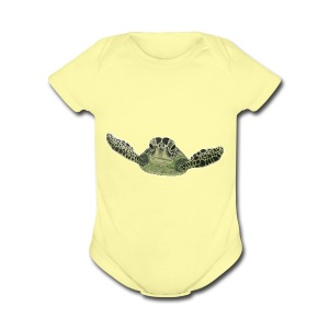 Green sea turtle  - Short Sleeve Baby Bodysuit