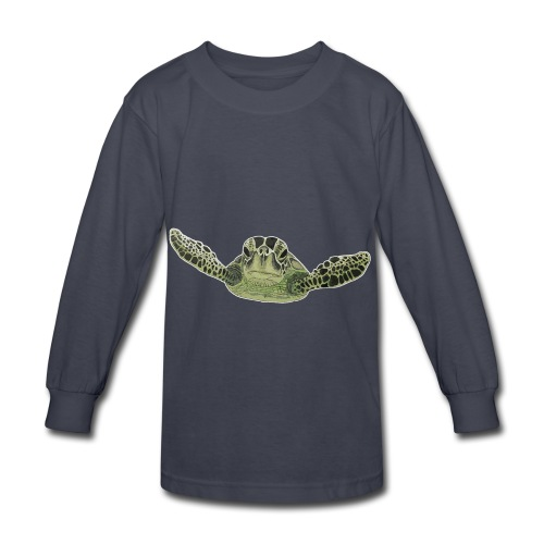 Green sea turtle  - Kids' Long Sleeve T-Shirt