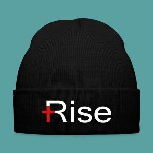 Rise Knit Cap - Knit Cap with Cuff Print