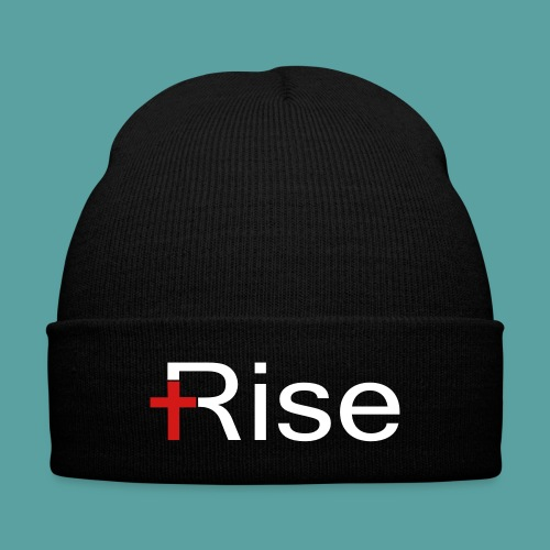 Rise Knit Cap - Knit Cap with Cuff Print