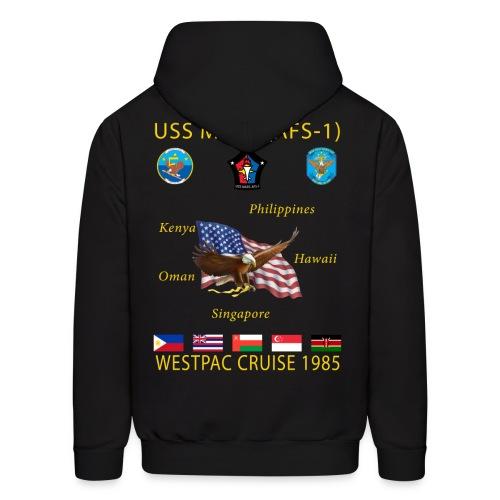 USS MARS 1985 CRUISE HOODIE - Men's Hoodie