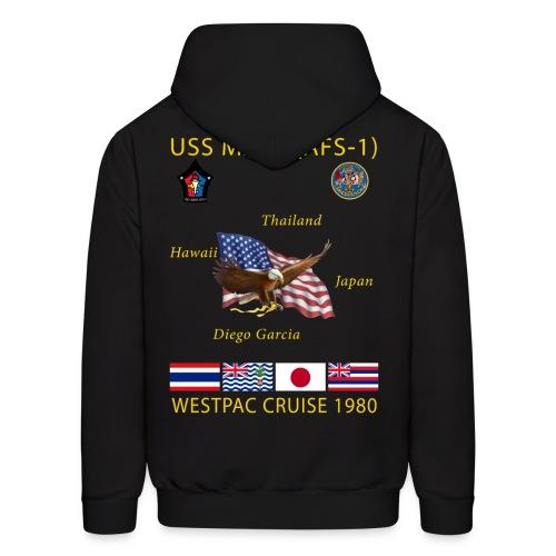 USS MARS 1980 CRUISE HOODIE - Men's Hoodie