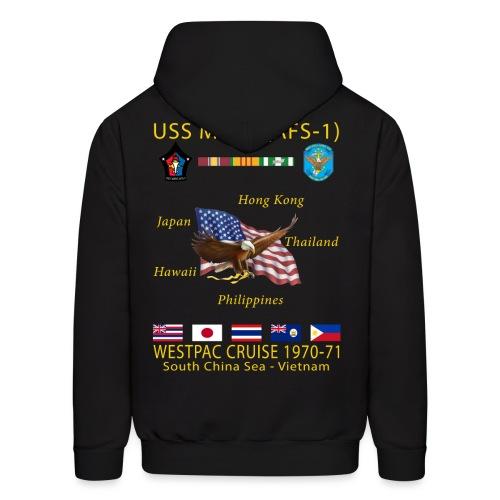 USS MARS 1970-71 CRUISE HOODIE - Men's Hoodie