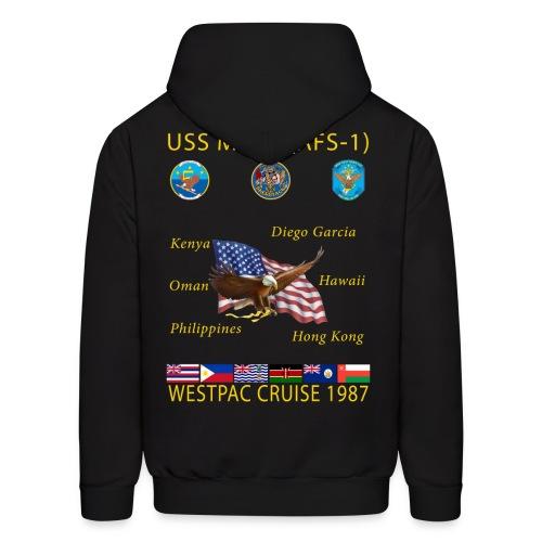 USS MARS 1987 CRUISE HOODIE - Men's Hoodie