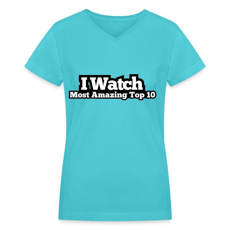 Women's V-Neck T-Shirt - Top 10  - Women's V-Neck T-Shirt