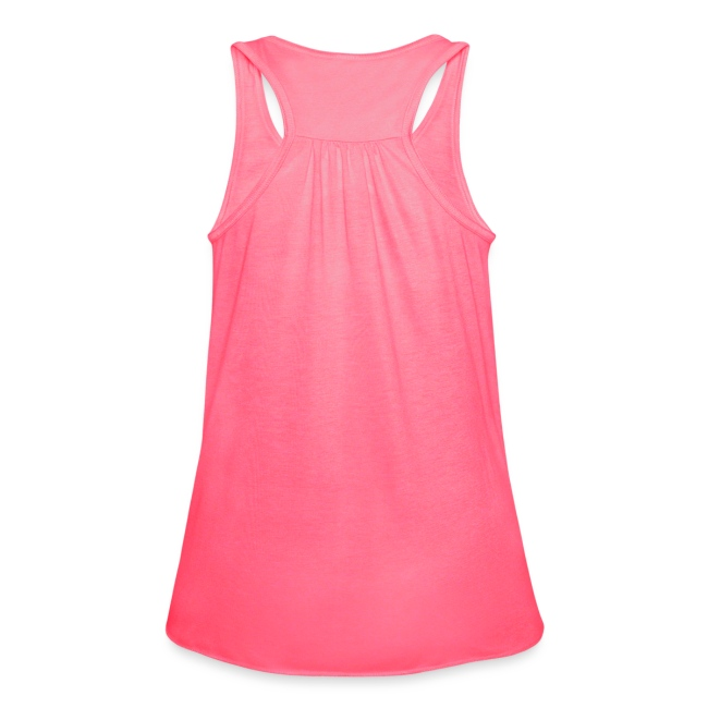 Womens Bella Flowy Tank - Hot Pink - Got Fufu - White