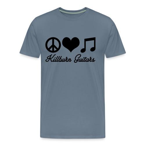 Killburn Guitars Peace Love Music - Men's Premium T-Shirt