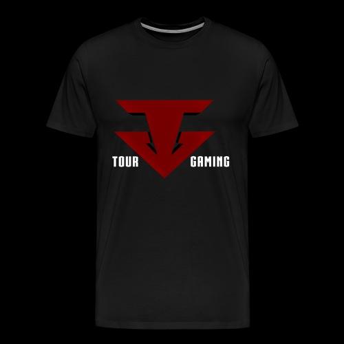 Tour White T w/ Black Logo&Text - Men's Premium T-Shirt