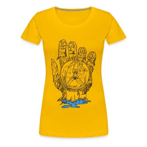 Mystery Hand (Ladies Slim Fit) - Women's Premium T-Shirt