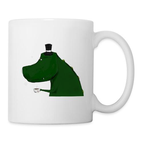 White Top Hat T-Rex Mug - Coffee/Tea Mug
