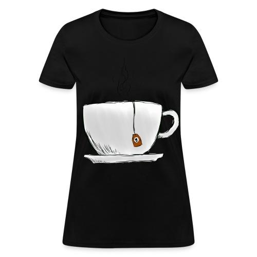 Women's Black Tea Shirt - Women's T-Shirt