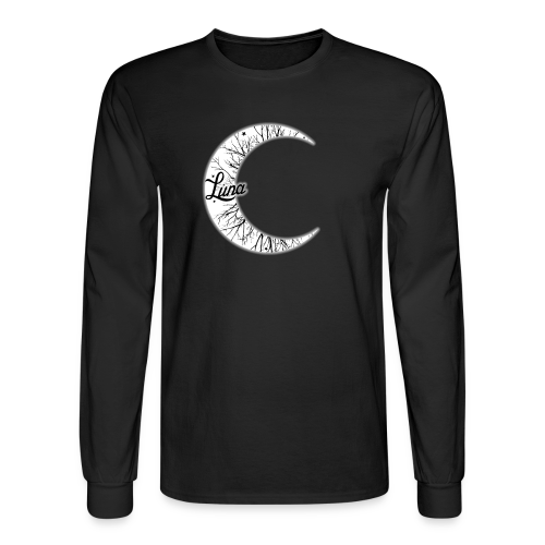 Moon Long Sleeve Tee - Men's Long Sleeve T-Shirt