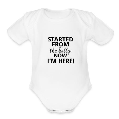 Drake Baby Summer Bodysuit - Organic Short Sleeve Baby Bodysuit