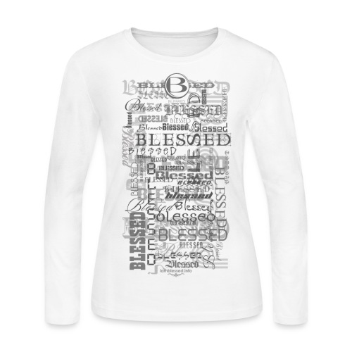 Women's Long Sleeve Blessed Tee - Women's Long Sleeve Jersey T-Shirt