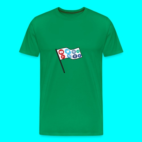 Social Media Flag Custom T-Shirt - Men's Premium T-Shirt
