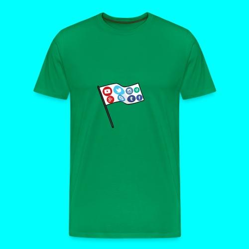 Social Media Flag Custom T-Shirt - Men's Premium T-Shirt