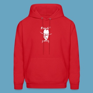 BanditGaming Red hoody with White logo - Men's Hoodie