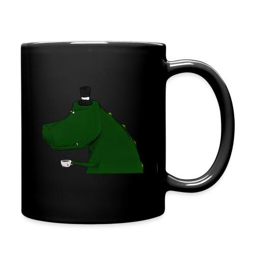 Black Top Hat T-Rex Mug - Full Color Mug