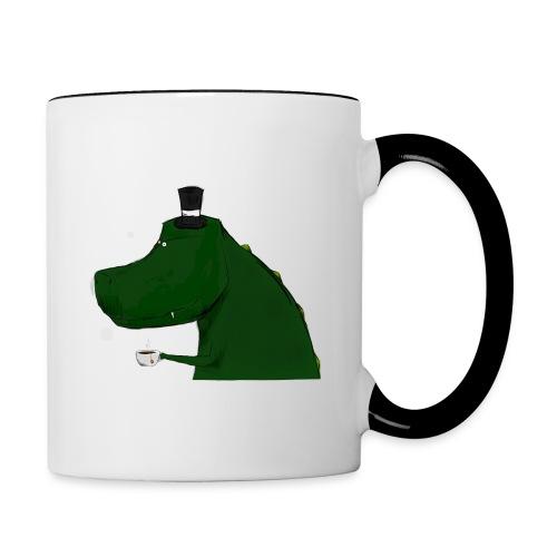 Rimmed Top Hat T-Rex Mug - Contrast Coffee Mug