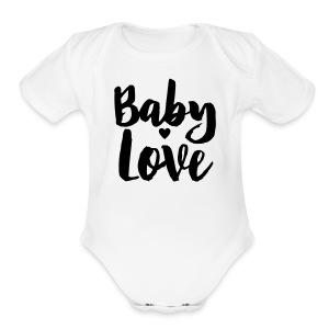 Baby Love   - Short Sleeve Baby Bodysuit