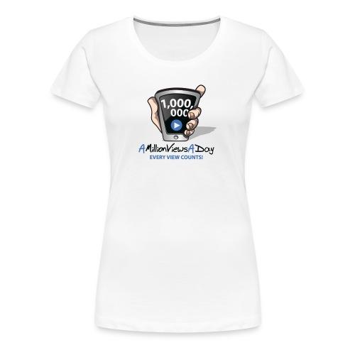 AMillionViewsADay Women's Tee (white) - Women's Premium T-Shirt