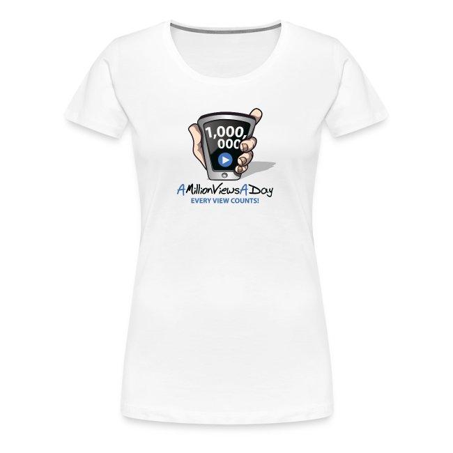 AMillionViewsADay Women's Tee (white)
