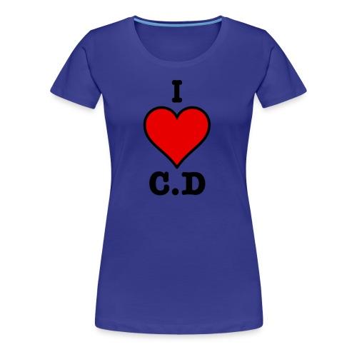 I Heart C.D - Womans premium t-shirt - Women's Premium T-Shirt