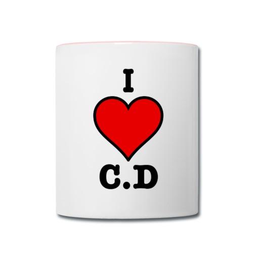I Heart C.D - Mug - Contrast Coffee Mug