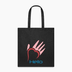 Tote bag with logo and mission statement
