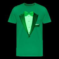 T-Shirts ~ Men's Premium T-Shirt ~ St. Paddys Green Tuxedo Tux