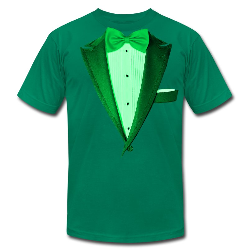 St. Paddys Green Tuxedo Tux - Men's T-Shirt by American Apparel