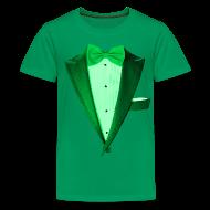 Kids' Shirts ~ Kids' Premium T-Shirt ~ St. Paddys Green Tuxedo Tux
