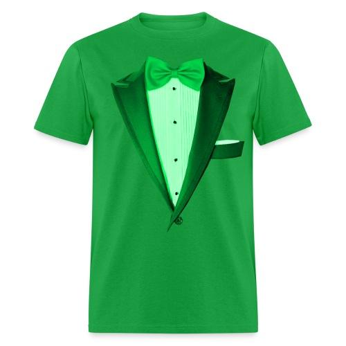 St. Paddys Green Tuxedo Tux - Men's T-Shirt
