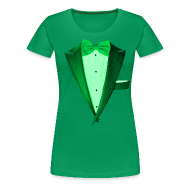 T-Shirts ~ Women's Premium T-Shirt ~ St. Paddys Green Tuxedo Tux