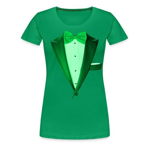 St. Paddys Green Tuxedo Tux - Women's Premium T-Shirt