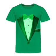 Baby & Toddler Shirts ~ Toddler Premium T-Shirt ~ St. Paddys Green Tuxedo Tux